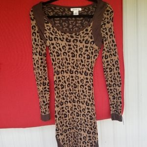 Cheetah print sweater dress